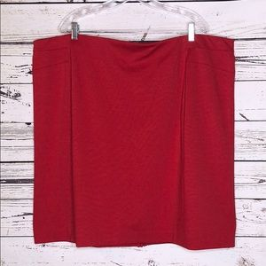 Fashion Bug NWT 3X Red Pleated Chiffon Trim Skirt
